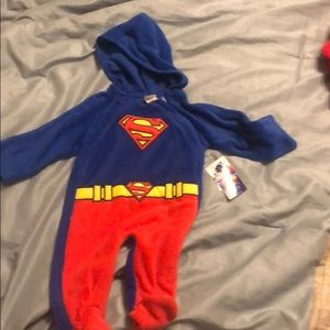 Other - Superman sleeper with hood 3/6 months